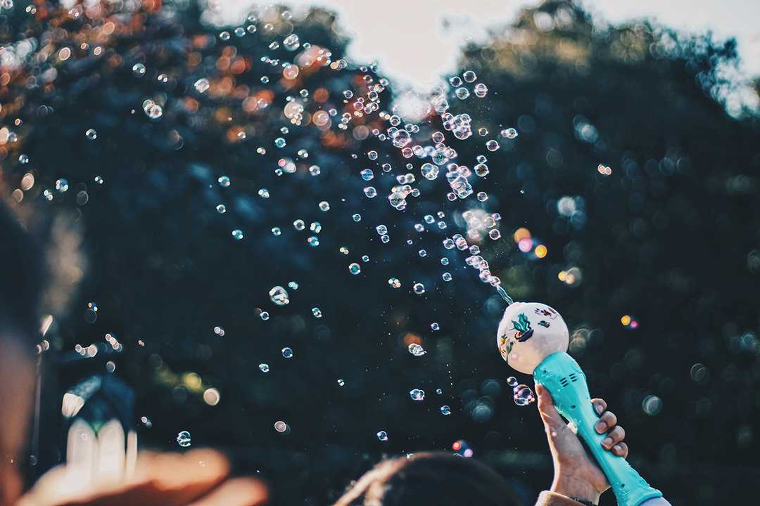 bubbles that signify squiriting